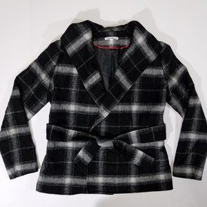 Dalia Collection Plaid Wool-Blend Lined Jacket
